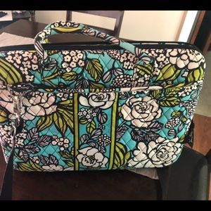 Vera Bradley hardcover laptop bag